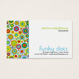 Funky Dots Business Card