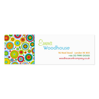 Funky Dots Business Card Template