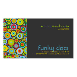 Funky Dots Dark Grey Double-Sided Standard Business Cards (Pack Of 100)