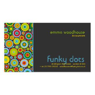 Funky Dots Dark Grey Business Card