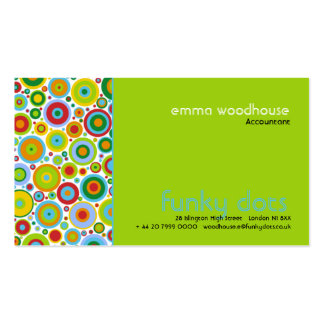 Funky Dots Green Business Card