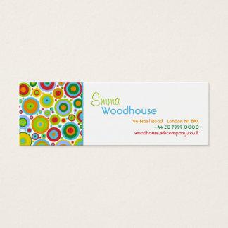 Funky Dots Mini Business Card
