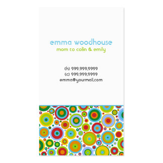 Funky Dots n Stripes Mommy Business Card