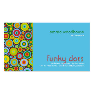 Funky Dots :: Turquoise Business Card