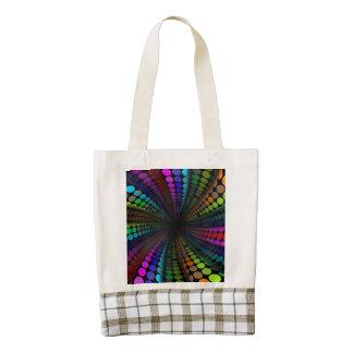 funky dots zazzle HEART tote bag