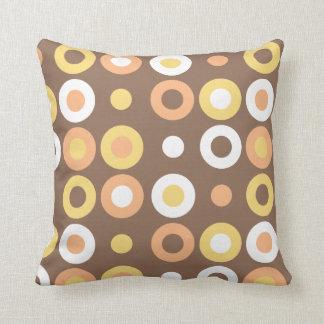 Funky Doughnut Pattern Pillow - Chocolate