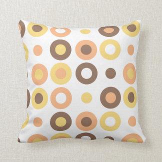 Funky Doughnut Pattern Pillow - White