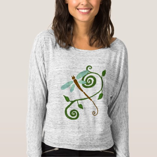 Funky Dragonfly Abstract Art to Wear Tee Shirt