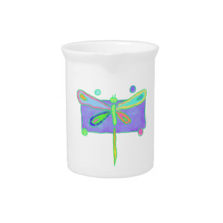 Funky Dragonfly Beverage Pitcher