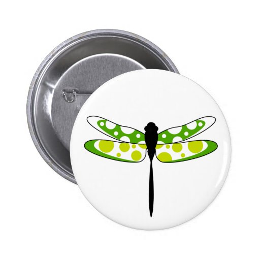 Funky Dragonfly Button