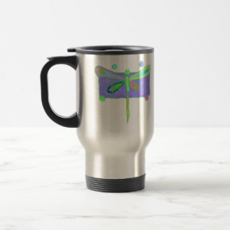 Funky Dragonfly Travel Mug