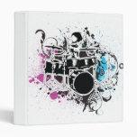 funky drummer vector design 3 ring binder