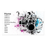 funky drummer vector design business card templates