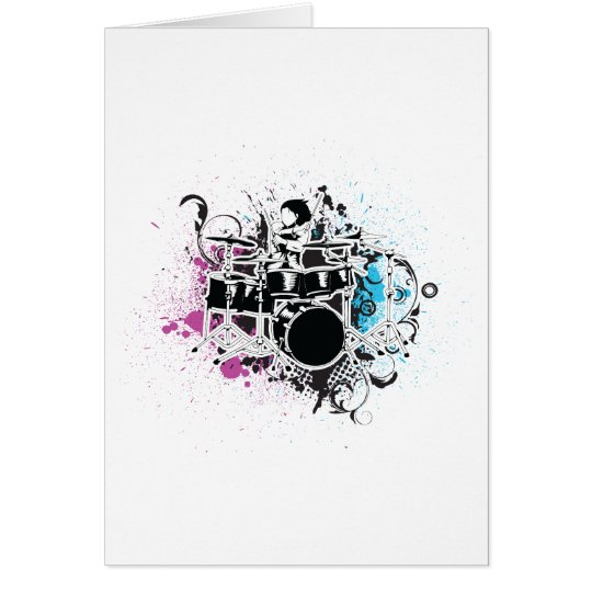 funky drummer vector design card