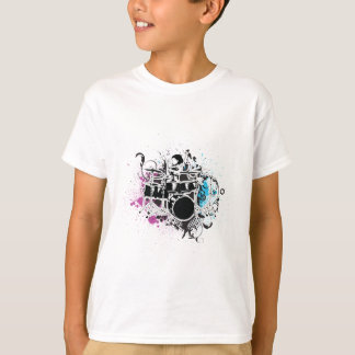 funky drummer vector design T-Shirt