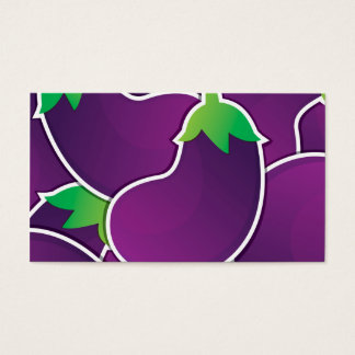 Funky eggplant business card