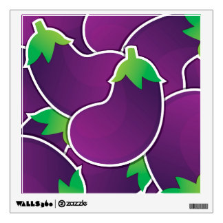 Funky eggplant wall decal