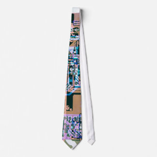 funky electric circuit board abstract tie