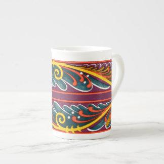 Funky Elegant Moyen Age Colorful Medieval Design Tea Cup