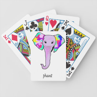 Funky elephant bicycle playing cards