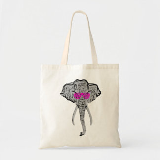 Funky Elephant - Hat Tote Bag