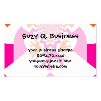 Funky Elephants Kaleidoscope Hot Pink Orange Business Card
