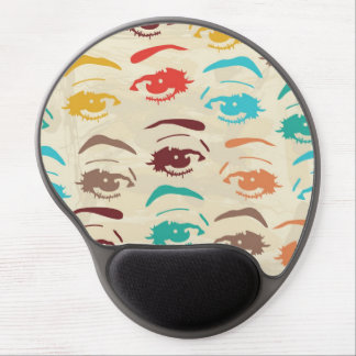 Funky Eyes Graphic Design Gel Mouse Pad