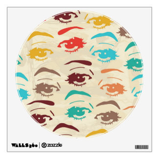 Funky Eyes Graphic Design Wall Decal
