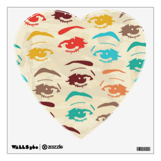 Funky Eyes Graphic Design Wall Sticker