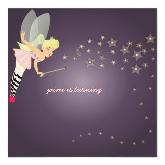 Funky fairy, Children Birthday Party Invitation