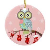 Funky Fancy Owl Christmas Ornament