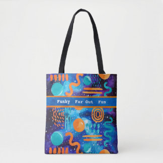 Funky, Far-Out, Fun Geometric Design Tote Bag