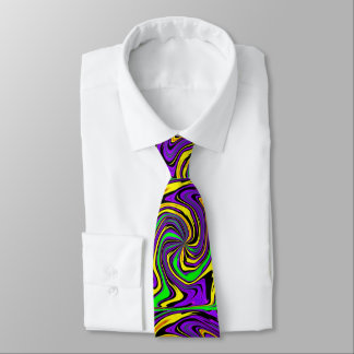 Funky Far-out Psychedelic Swirl Wet Paint Neck Tie