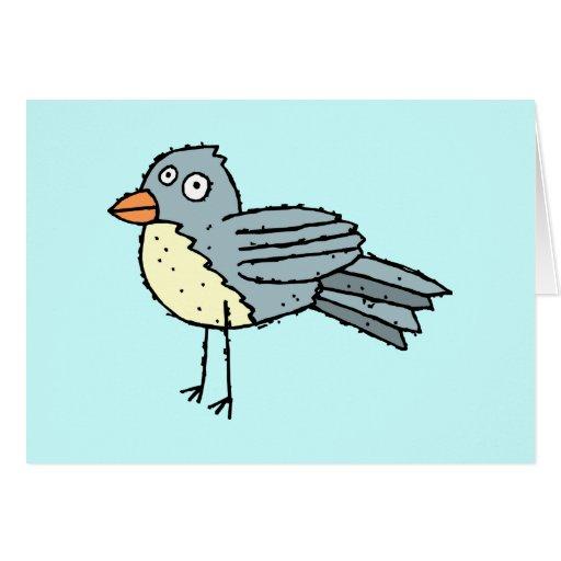 Funky Farm Bird Greeting Card