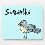 Funky Farm Bird Name Mousepad Samantha