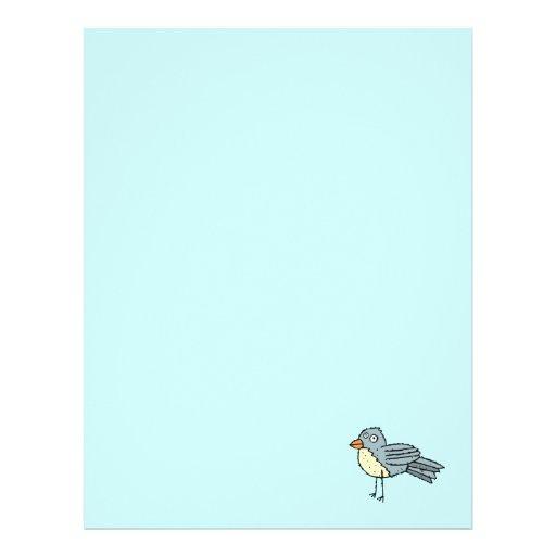 Funky Farm Bird Recycled Letterhead Paper