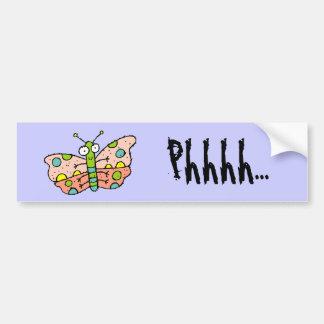 Funky Farm Butterfly Bumper Sticker Phhhh...