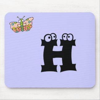 Funky Farm Butterfly Monogram Mousepad Letter H