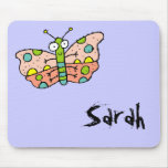 Funky Farm Butterfly Name Mousepad Sarah