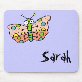 Funky Farm Butterfly Name Mousepad Sarah
