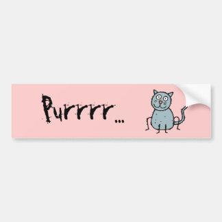 Funky Farm Cat Bumper Sticker Purrrr...