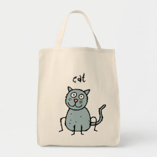 Funky Farm Cat Grocery Tote Bag