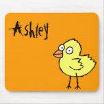 Funky Farm Chick Name Mousepad Ashley