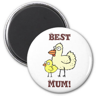 Funky Farm Chicken And Chick Best Mum! Magnet 1