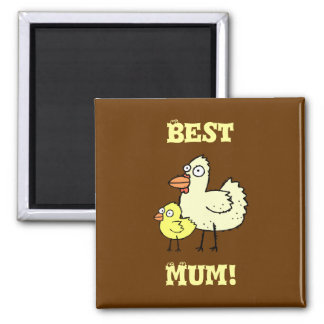 Funky Farm Chicken And Chick Best Mum! Magnet 2