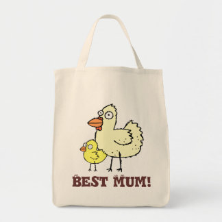Funky Farm Chicken And Chick Best Mum! Tote Bag