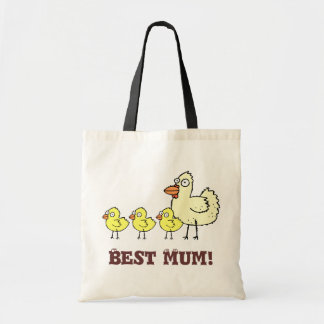 Funky Farm Chicken And Chicks Best Mum! Tote Bag