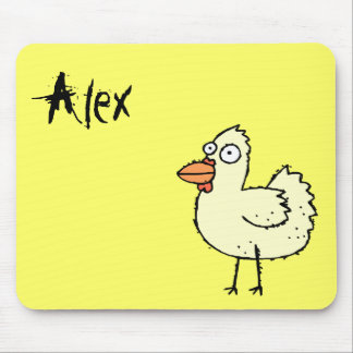 Funky Farm Chicken Name Mousepad Alex