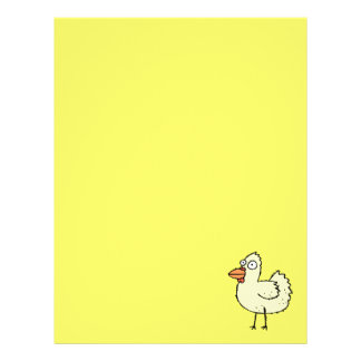 Funky Farm Chicken Recycled Letterhead Paper
