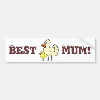 Funky Farm Chickens Best Mum! Bumper Sticker 1